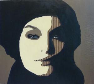 Portrait on Cardboard, age 16