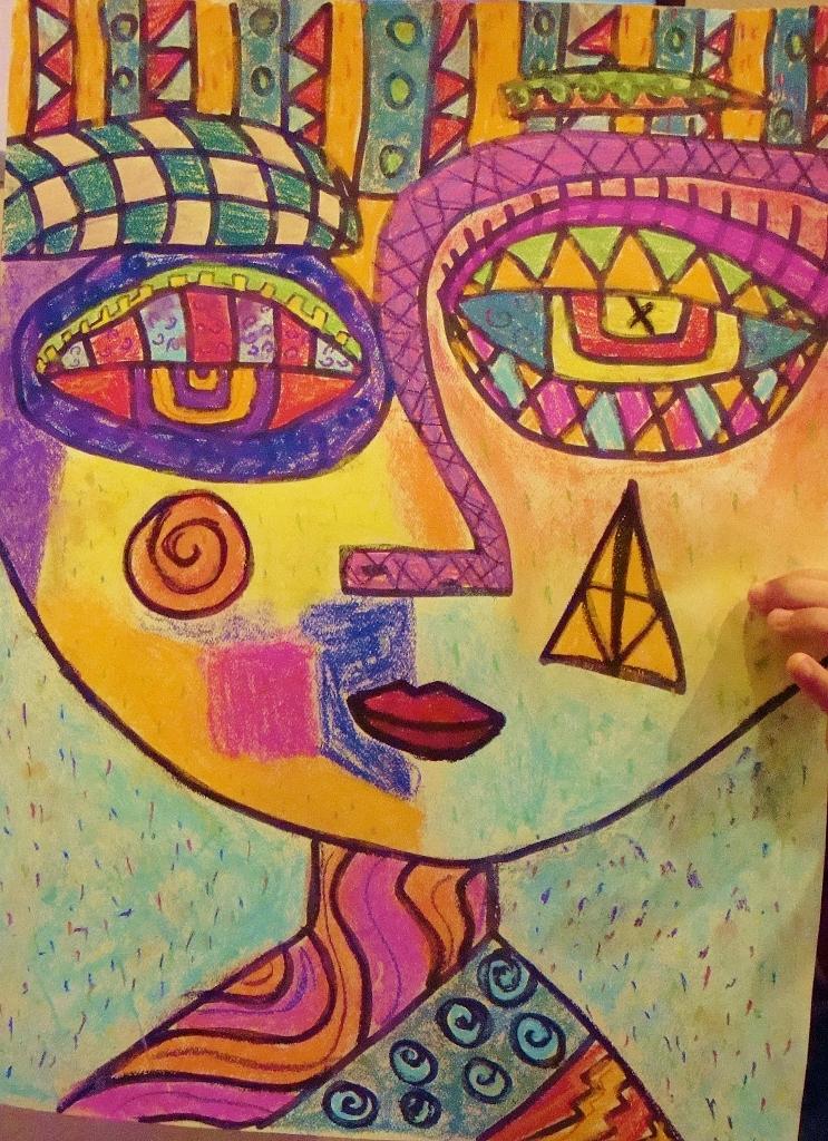 Picasso-like Face-Intermediate Art