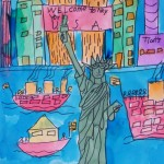 Statue of Liberty Watercolor, age 7