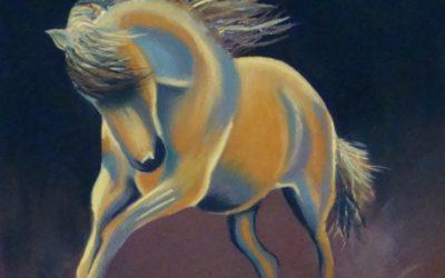 Horses in Pastel